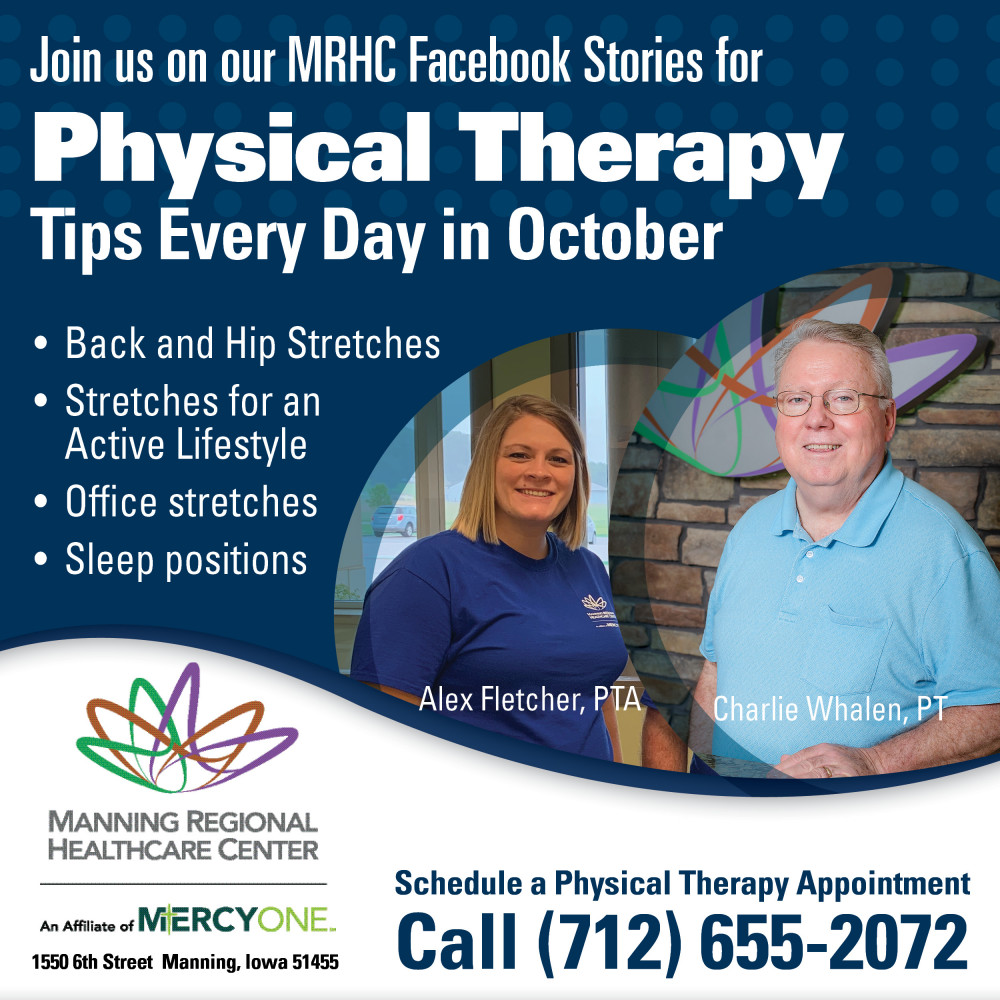 Join us for Physical Therapy Tips on our Facebook Stories